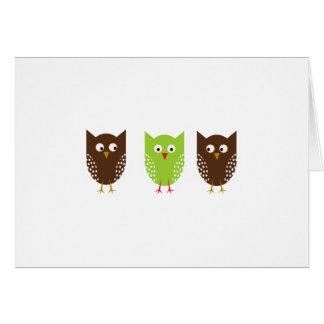 Three Owls Christmas Card
