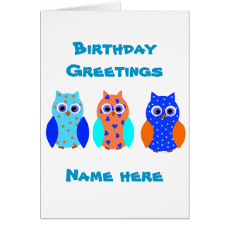 Three Owls on multiple products Card