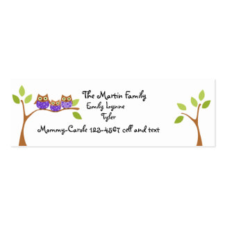 Three Owls Play Date Business Card