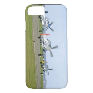 Three P51 Mustangs Taking Off_WWII Planes iPhone 7 Case