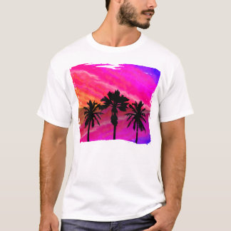Three Palm Sunset T-Shirt