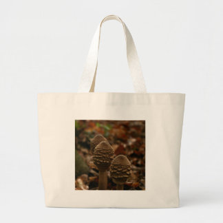 Three parasol mushrooms in the forest 1 jumbo tote bag