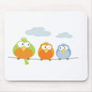 Three Passarinhos/Tree little birds Mouse Pad