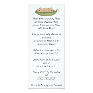 Three Peas in a Pod Card