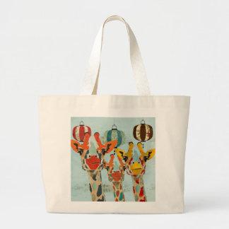 Three Peeking Giraffes Bag