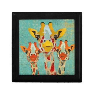 Three Peeking Giraffes Gift Box