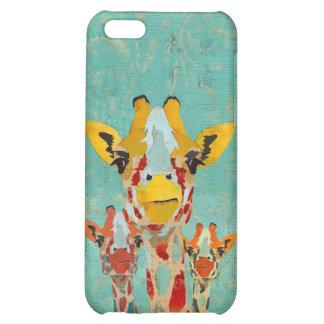 Three Peeking Giraffes iPhone Case iPhone 5C Covers