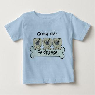 Three Pekingese Baby T-Shirt