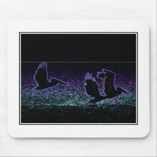 Three Pelicans mousepad - photo art by HD