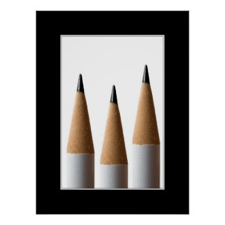 Three pencils Poster