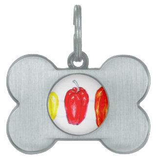 Three Peppers Art2 Pet ID Tag
