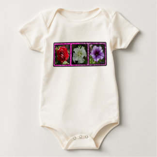 Three Petunias Baby Bodysuit