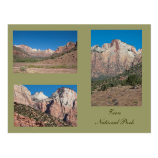 Three Photos of Zion National Park Postcard
