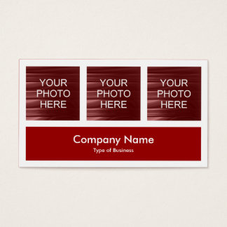 Three Photos Plus One - Ruby Red Business Card