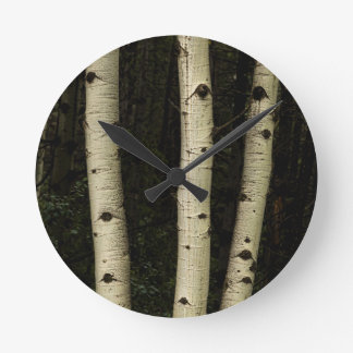Three Pillars Of The Forest Round Clock