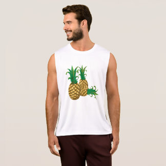three pineapples fruit singlet