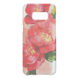 Three Pink and Red Watercolor Roses Uncommon Samsung Galaxy S8 Case