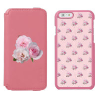 Three pink roses. Floral pattern. Add name.