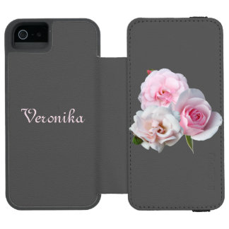 Three pink roses. incipio watson™ iPhone 5 wallet case