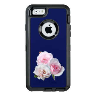 Three pink roses. OtterBox defender iPhone case