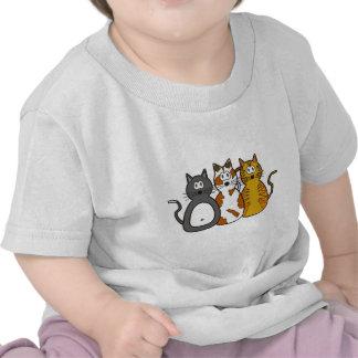 Three Playful Kittens T Shirt