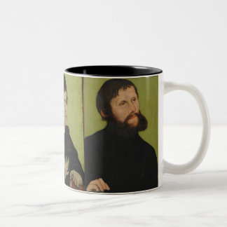 Three Portraits of Martin Luther Two-Tone Coffee Mug