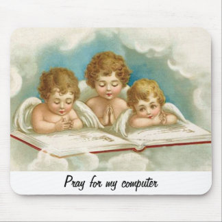 Three praying angels mouse pad