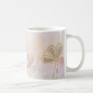 Three pretty flowers coffee mug