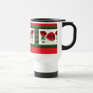 Three PRETTY Roses Mugs