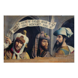 Three Prophets, Provence School Poster
