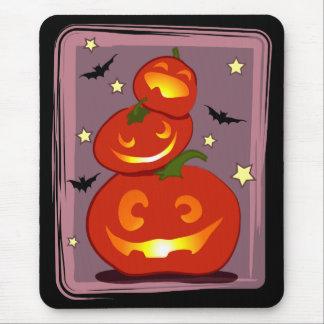 three pumpkins mouse pad