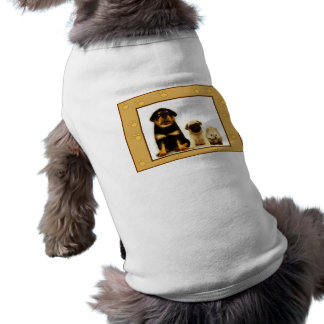 Three puppies dog shirt