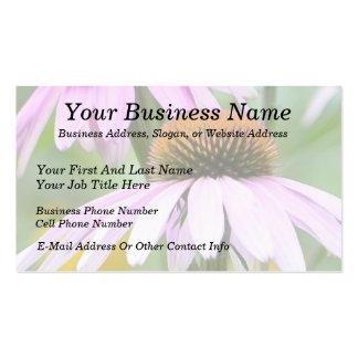Three Purple Coneflowers Business Card Templates