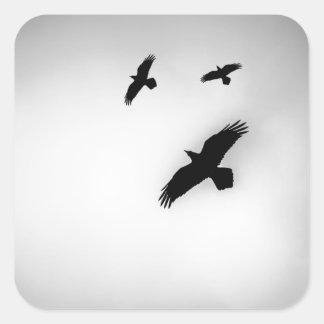 Three Ravens Square Sticker