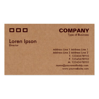 Three Rectangles - Cardboard Box Texture Business Card