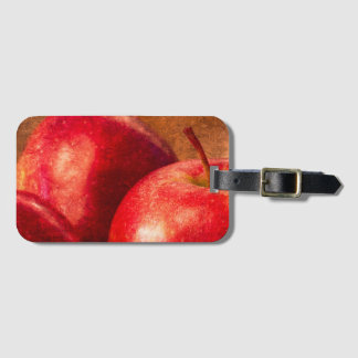 Three Red Apples Luggage Tag