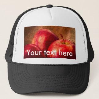 Three Red Apples Trucker Hat