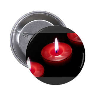 Three Red Candles Pinback Button
