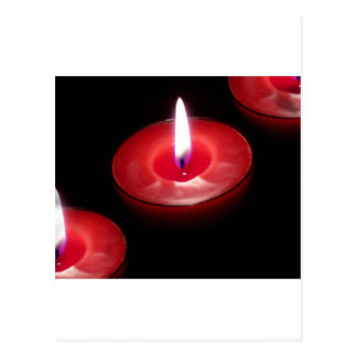 Three Red Candles Post Card