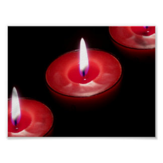 Three Red Candles Posters