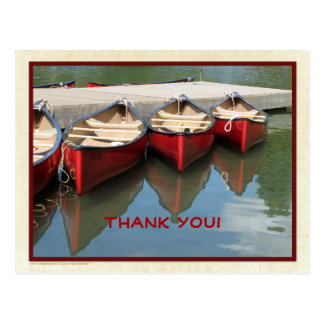 Three Red Canoes Thank You Postcard