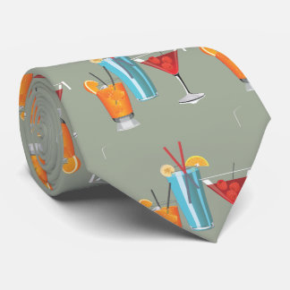 Three Retro Cocktails Tie