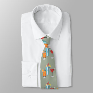 Three Retro Cocktails Tie