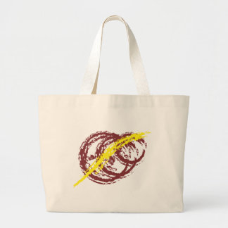 Three rings and one stroke canvas bag
