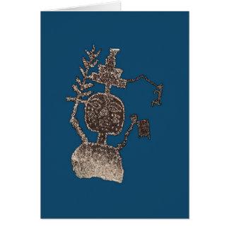 Three Rivers Petroglyph Man Image 5b Card