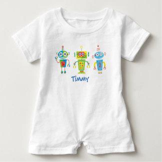 Three Robots Baby Romper Baby Bodysuit