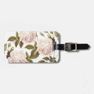 Three Rose Cream Luggage Tag