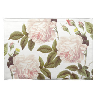 Three Rose Cream Placemat