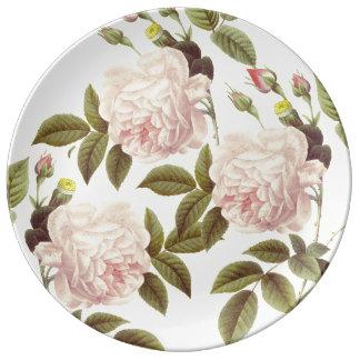 Three Rose Cream Plate