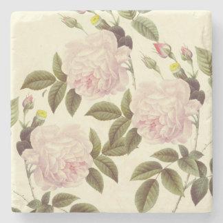 Three Rose Cream Stone Coaster